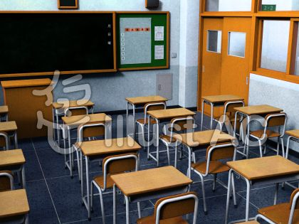 教室背景のイラスト