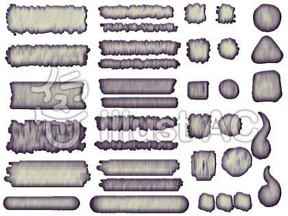 ボタンセット木目風3のイラスト