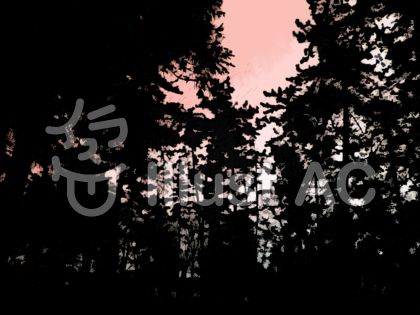 木影(赤)のイラスト