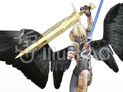 エルフと魔法剣のイラスト