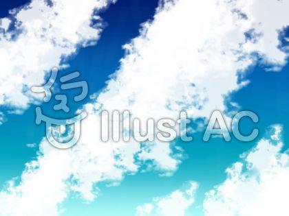 見上げる青空のイラスト