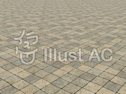 石畳の背景(パースペクティブ)のイラスト