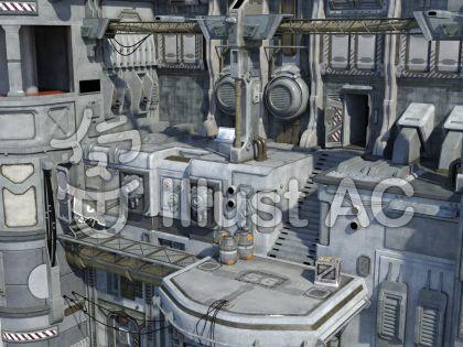 SF世界の背景のイラスト