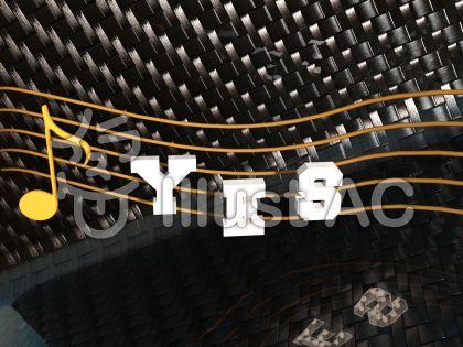 光沢カーボンのYESのイラスト