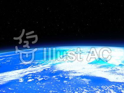 人口衛星から見た地球のイラスト